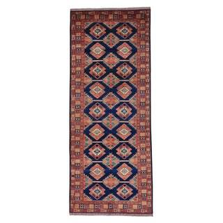 Afghan Ersari Wide Runner Pure Wool Handmade Oriental Rug (5' x 12'8)
