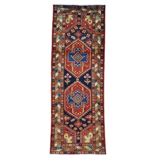 Persian Nahavand Wide Runner Hand Knotted Oriental Rug (4' x 10'10)