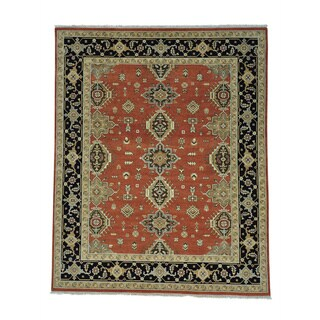 Red Karajeh Hand Knotted Pure Wool Oriental Rug (8' x 9'10)