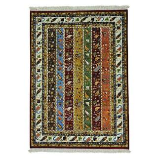 Kashkuli Shawl Design Hand Knotted Pure Wool Oriental Rug (5'9 x 8')