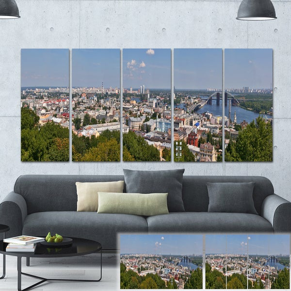 Designart 'Kiev Cityscape Panorama' Photo Canvas Print