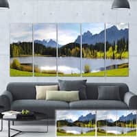 Designart 'Panorama Landscape in Bavaria' Photo Canvas Print - Green