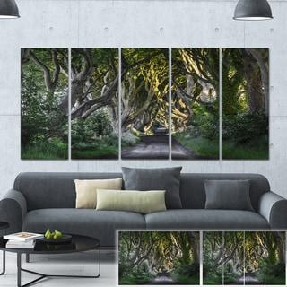 Designart 'The Dark Hedges Ireland Landscape' Photo Canvas Print