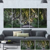 Designart 'The Dark Hedges Ireland Landscape' Photo Canvas Print - Green
