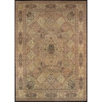 Pasargad Majestic Tabriz Hand-knotted Multicolor Ivory Wool Rug - 10' x 14'