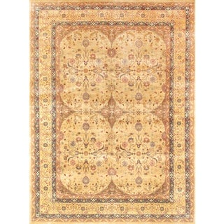 Pasargad Tabriz Hand-knotted Camel and Gold Wool Rug (9' x 12')