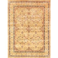 Pasargad Tabriz Hand-knotted Camel and Gold Wool Rug (9' x 12') - 9 x 12