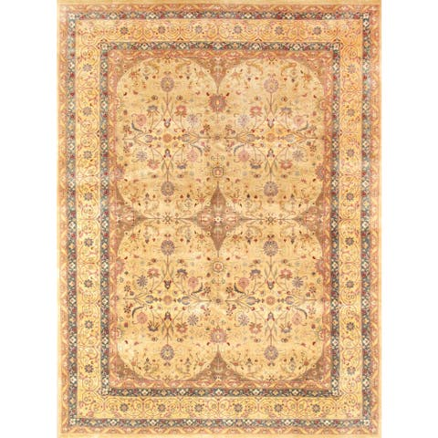 Pasargad Tabriz Hand-knotted Camel and Gold Wool Rug (9' x 12') - 9' x 12'