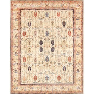 Pasargad Bakhshayesh Hand-knotted Ivory and Camel Wool Rug (9' x 12')