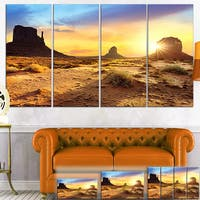 Designart - Monument Valley Landscape - Photo Canvas Art Print - Red