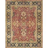 Pasargad Sultanabad Hand-knotted Red and Black Wool Rug (10' x 14') - 10' x 14'