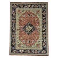 Antiqued Fereghan Revival Pure Wool Handmade Rug (10'1 x 13'10)