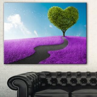 Designart - Heart Tree Abstract - Digital Art Canvas Print