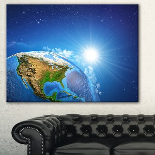 Designart - Sunrise over the Earth Landscape - Canvas Art Print