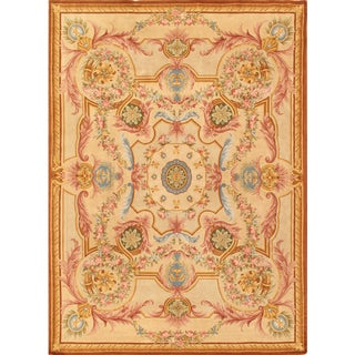 Pasargad Savonnerie Hand-knotted Ivory Wool Rug (10' x 14')
