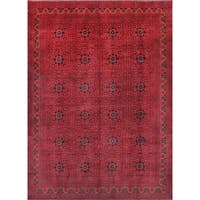 Pasargad Yamoud Hand-knotted Burgundy Wool Rug (8' x 11') - 8' x 11'