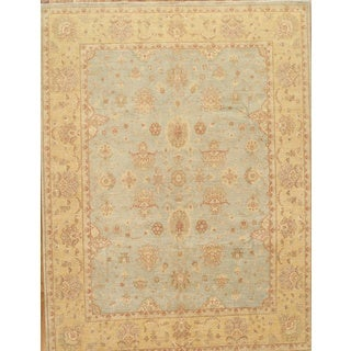 Pasargad Sultanabad Hand-knotted Light Blue and Light Gold Wool Rug (9' x 12')