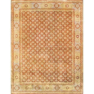 Pasargad Mamluk Hand-knotted Rust and Light Blue Wool Rug (9' x 12')