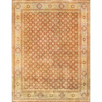 Pasargad Mamluk Hand-knotted Rust and Light Blue Wool Rug (9' x 12') - 9' x 12'