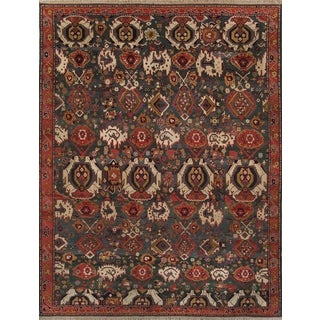 Pasargad Kazak Hand-knotted Green and Rust Wool Rug (9' x 12')