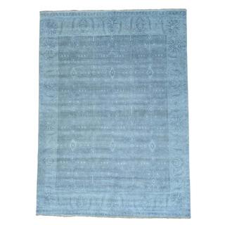 Tone on Tone Pure Wool Serapi Heriz Handmade Oriental Rug (10' x 13'8)