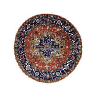 Serapi Heriz Hand Knotted Round Oriental Rug (10' x 10')