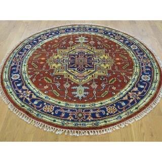 Round Serapi Heriz 100 Percent Wool Hand Knotted Rug (5' x 5')