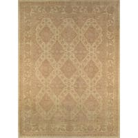 Pasargad Ferehan Hand-knotted Beige Wool Rug (10' x 14') - 10' x 14'
