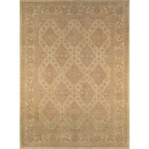 Pasargad Ferehan Hand Knotted Beige Wool Rug 10 X 14 10 X 14 On Sale Overstock 11687861