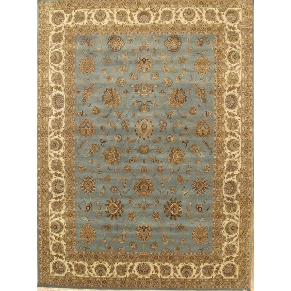 Pasargad Ny Persian Hand Knotted Wool Light Blue Ivory