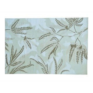 Modern Nepali Wool and Silk Hand Knotted Oriental Rug