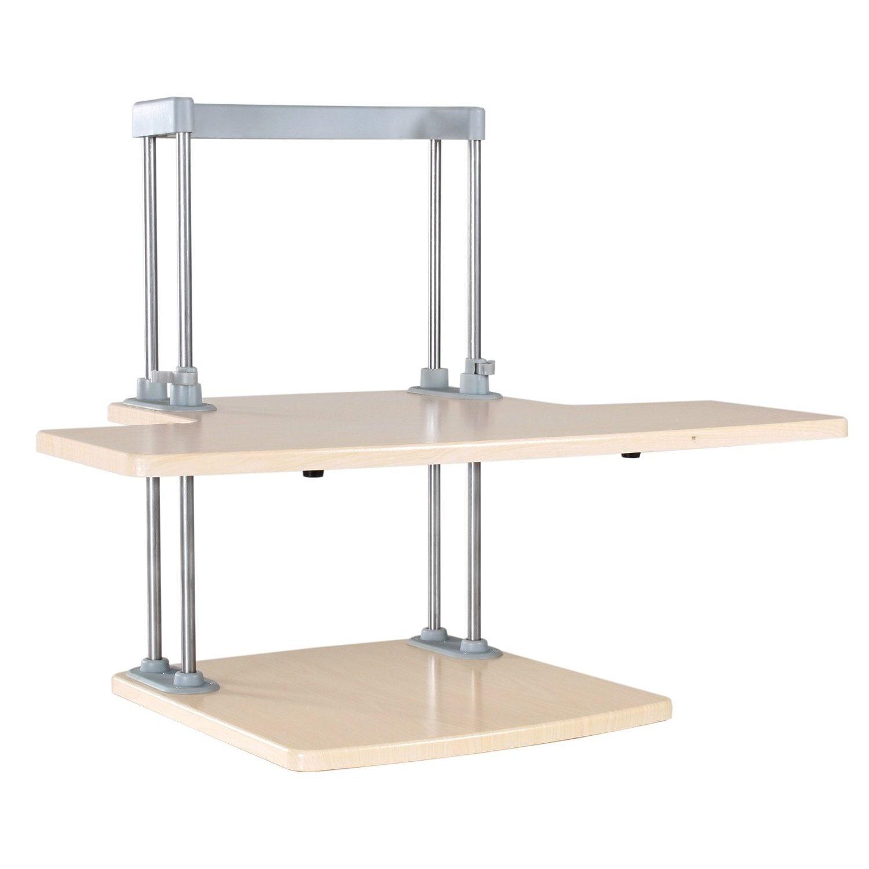 Dyconn Ergonomic Height Adjustable Sit/Stand Desk Solutio...