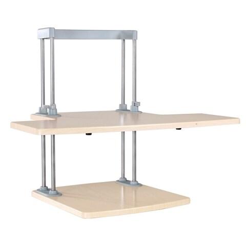Dyconn Ergonomic Height Adjustable Sit/Stand Desk Solution