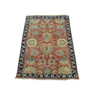 Antiqued Serapi Heriz Revival Pure Wool Handmade Rug (2' x 3'1)