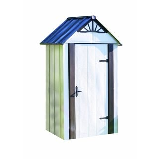 Arrow Designer Hot Dipped Galvanized Steel Shed (4' x 2')