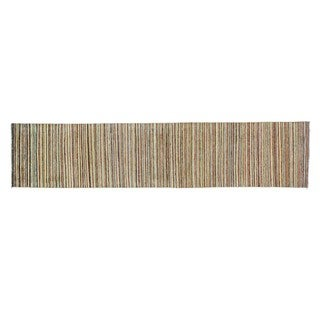 Striped Colorful Runner Pure Wool Gabbeh Hand Knotted Rug (2'1 x 9'7)