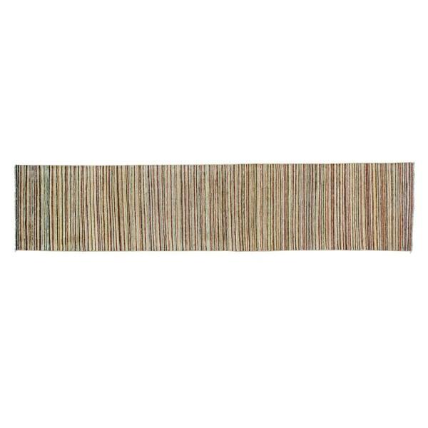 Gabbeh Peshawar Multicolored Runner Pure Wool Handmade Rug - Multi