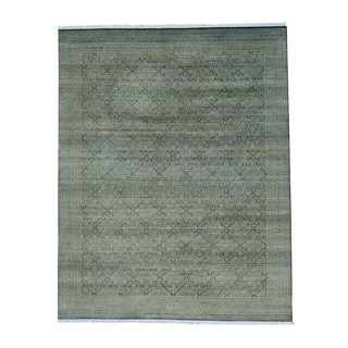 Tone on Tone Gabbeh Hand Knotted Pure Wool Oriental Rug (8' x 10'2)