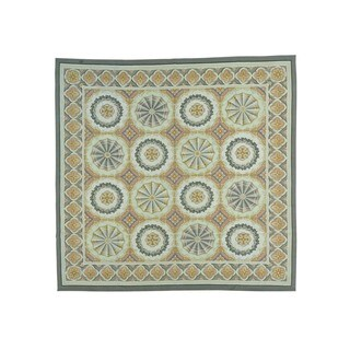 Square Aubusson Neo Classic Design Flat Weave Rug (9'8 x 9'10)