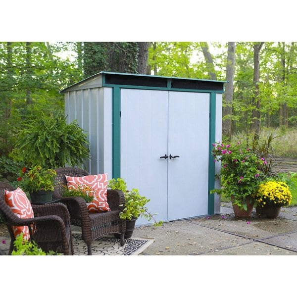Arrow Euro Lite Hot Dipped Galvanized Steel Shed 6 X 4