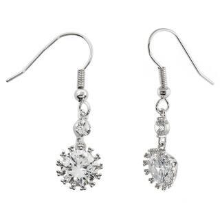 Eternally Haute Silver Overlay 8ct TGW Cubic Zirconia Snowflake Drop Earrings|https://ak1.ostkcdn.com/images/products/11688105/P18613903.jpg?impolicy=medium