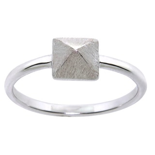 Eternally Haute Silverplated Satin Finish Cleopatra Ring