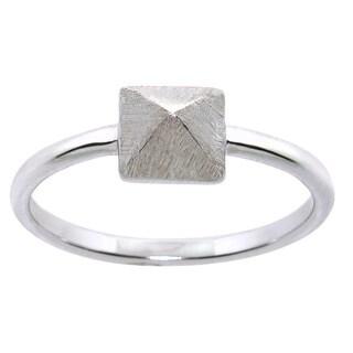 Eternally Haute Silverplated Satin Finish Cleopatra Ring - Silver