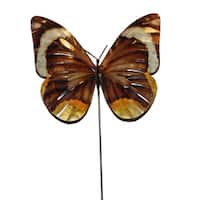 Handmade Butterfly Brown Garden Decoration