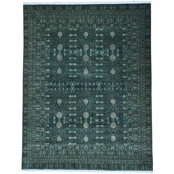 Pomegranate Design Samarkand Pure Wool Hand Knotted Rug (8' x 10'1)