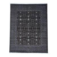 Samarkand With Pomegranate Design Pure Wool Handmade Rug - 8' x 10'2