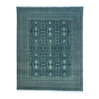 Pure Wool Samarkand With Pomegranate Design Handmade Rug (8' x 10')