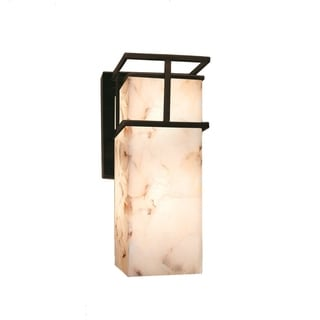 Justice Design Group Alabaster Rocks! Structure Large Outdoor Wall Sconce
