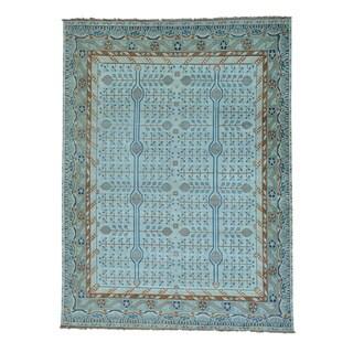 Samarkand With Pomegranate Design Handmade Oriental Rug (9'1 x 12')