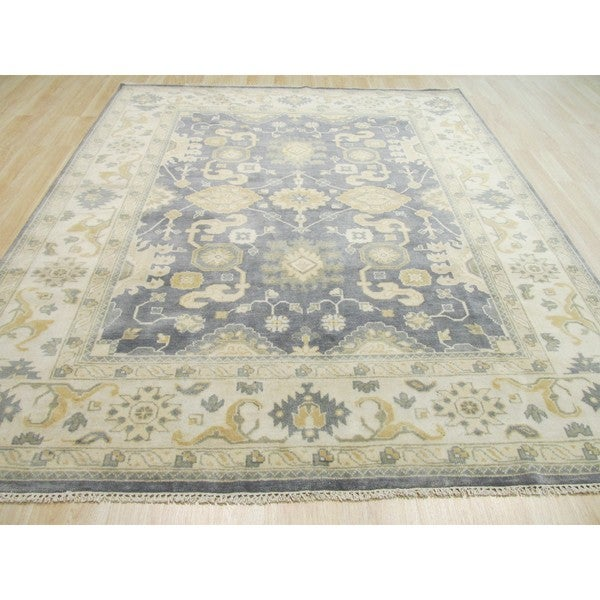 Pasargad Khotan Persian Wool Area Rug 8 X10: Shop Hand-knotted Wool Blue Traditional Oriental Oushak
